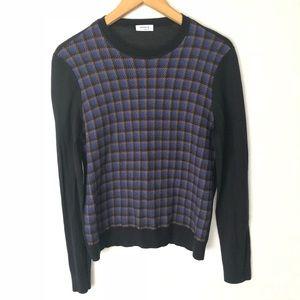 AKRIS Punto Sweatshirt Top Black Blue printed 12